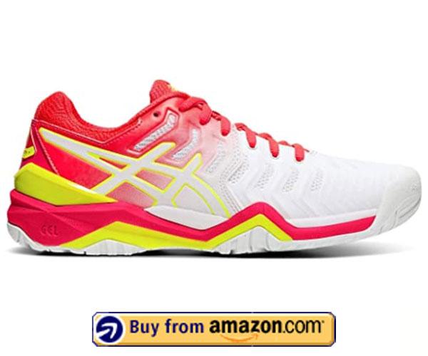 ASICS Gel-Resolution 7 – Best Women's Tennis Shoes For Plantar Fasciitis 2020
