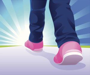 walking shoes vs running shoes